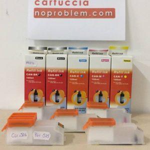 CARTUCCE RICARICABILI AUTORESET PER CANON CLI526 + 500ML INCHIOSTRO