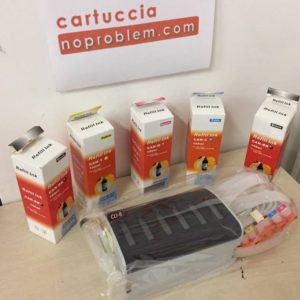 KIT IN CONTINUO PER CANON CLI8 + 400ML INCHIOSTRO