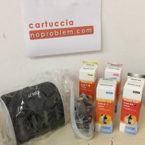 KIT IN CONTINUO PER BROTHER LC900 + 400ML INCHIOSTRO